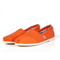 Toms Casual Slip Ons Mens Classic Canvas Shoes Chambray Biminis Orange