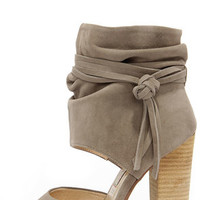 Chinese Laundry Leigh Grey Kid Suede Booties