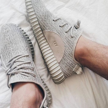 """Adidas"" Women Yeezy Boost Sneakers Running Sports Shoes Light khaki"