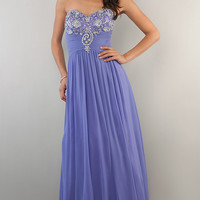 B Darlin Strapless Purple Gown
