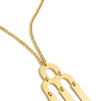 J.Crew Tuning Fork Pendant Necklace | Nordstrom