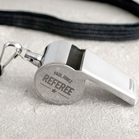 Personalised Stainless Steel Whistle | Engraved Gifts By Getting Personal