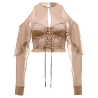 Mesh & Bustier Top with Sleeves, buy it @ www.puma.com