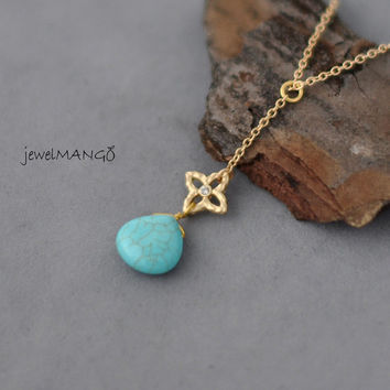 turquoise gem necklace, bridesmaid gifts, Bridesmaid gift, Wedding Party Gift, cotton candy, pink gem, gemstone gold necklace,blue, pink,jp5