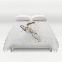 Drift Contemporary Dance Duvet Cover by Galen Valle
