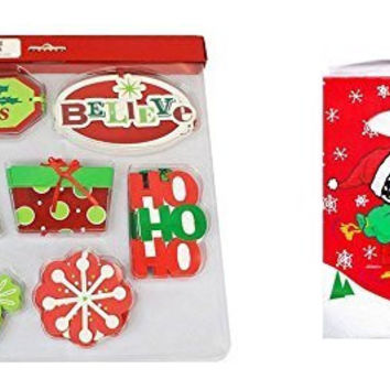 Holiday Time 40 Deluxe Gift Tags & 1 snoopy gift jewery bag