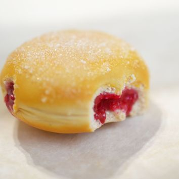 Jelly Doughnut Magnet, Polymer Clay Food Magnet