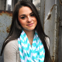 Monogrammed Jersey Infinity Scarves