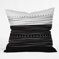 Viviana Gonzalez Black and white collection 01 Throw Pillow