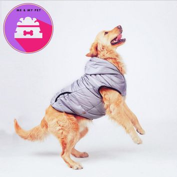 NEW Autumn Large Big Dogs Clothes Gray Soft Pet Jacket Vest Dog Hoodie Chow Chow Golden Retriever 3XL 4XL 5XL 6XL 7XL