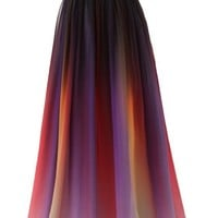 Dormencir Women's Gradient Colorful Chiffon Long Formal Evening Prom Dresses
