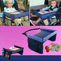 Kids Travel Portable Play Food Tray for Car Seat Buggy Pushchair Lap Adjustable [7735836038]
