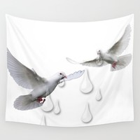 Can you hear the doves crying Wall Tapestry by Laura Santeler