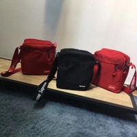 """Supreme"" Unisex Casual Letter Print Webbing Single Shoulder Messenger Bag Couple Fashion Simple Zip Small Bag"