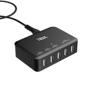 Liztek 40w 5-Port High Speed Desktop USB Charger
