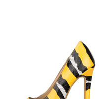 Midnight Tease Pump (Yellow)-Final Sale