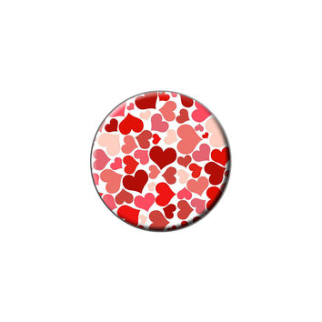 Lots of Hearts - Love Romantic Lapel Hat Pin Tie Tack Small Round
