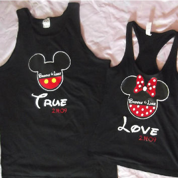 Get A Free Couples Set When You Purchase Two Couples Sets Disney True Love Mickey and Minnie Couples Shirts