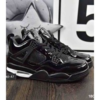 Nike Air Jordan GS Fire 2018 trendy men and women fashion sports running shoes F-A36H-MY black