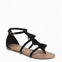 T-Strap Tassel Sandals for Women | Old Navy