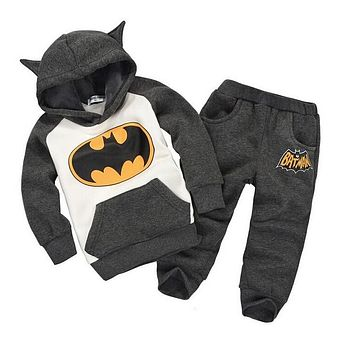 batman set baby boys clothing set children hoodies pants thicken winter warm clothes boys girls sets 2018 autumn new arrival