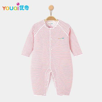 YOUQI 100% Quality Soft baby pajamas Clothing Cotton Brand Baby Rompers Gifts 3 6 9 Months Cute Spring Baby Boys Girls Clothes