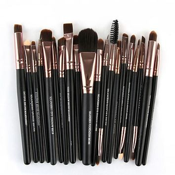 20 Pcs Professional Soft Cosmetics Make up with Brushes