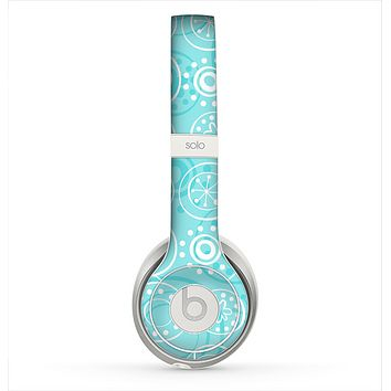 The Light Blue & White Swirls V3 Skin for the Beats by Dre Solo 2 Headphones
