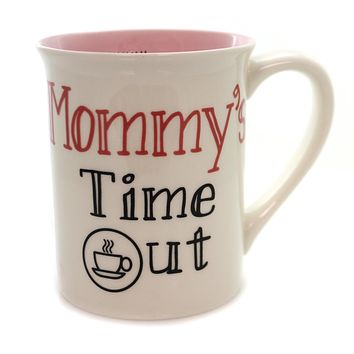 Tabletop MOMMY TIME OUT MUG Ceramic Momster Mother's Day 6000555