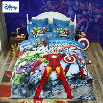 Marvel Avengers bedding set for kids comforter duvet covers twin size bedroom decor queen bed sheets cotton bedspread 3-5 pieces