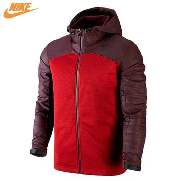 Nike Spring Men's Out Door Windproof Training Knit Hooded Jacket Red 624864-687