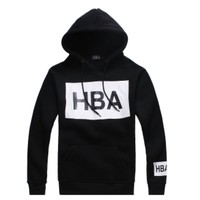 Indie Designs Hood by Air Inspired HBA Box Logo Hooded Sweatshirt