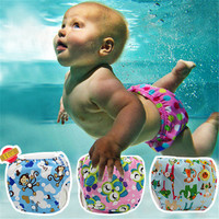 Reusable Baby Swimwear Diapers Babies Girls Boys Swimsuit Infant Adjustable swimming trunks Kids Diaper Leakproof Nappy