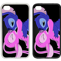 Stitch and Angel - Printed Rubber and Plastic Phone Cover Case Disney Inspired