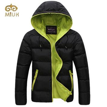 Casual Solid Hooded Men Famous Brand Winter Warm Winter Jacket Men Brand Clothing Jaqueta Masculina Parka
