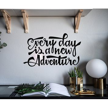 Vinyl Wall Decal Inspirational Art Every Day Adventure Stickers Mural 22.5 in x 13 in gz117