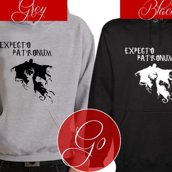 New Expecto Petronum Hoodie Sweatshirt Sweater Shirt black and white Unisex