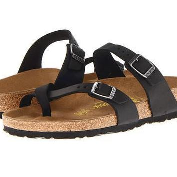 Birkenstock Mayari Sandals Black Oiled Leather - Beauty Ticks