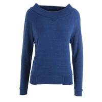 Alternative Womens Knit Heathered Pullover Sweater