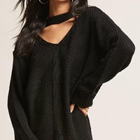 Cable Knit Sweater-Knit Top