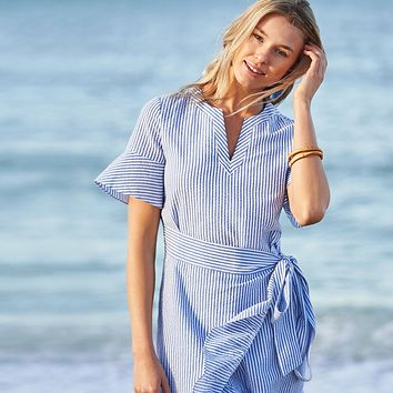 Seersucker Wrap Dress by Vineyard Vines