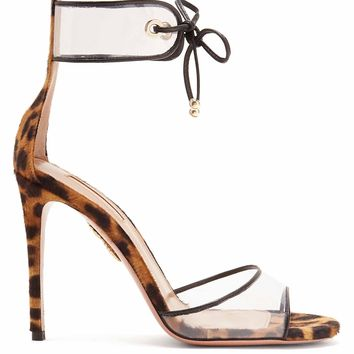 Optic 105 leopard-print sandals | Aquazzura | MATCHESFASHION.COM US