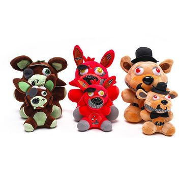 Freddy Bear New Arrival  At  4  Plush Toys 18cm Foxy Chica Bonnie Plush Stuffed Toys Doll for Kids Gifts
