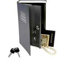 Evelots Locking Book Safe With Key Lock - Dictionary - Home Security