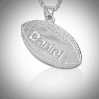 Football Pendant Name Necklace