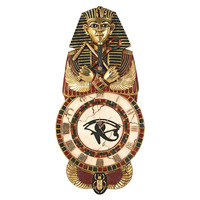 Park Avenue Collection Medinet Habu Egyptian Wall Clock