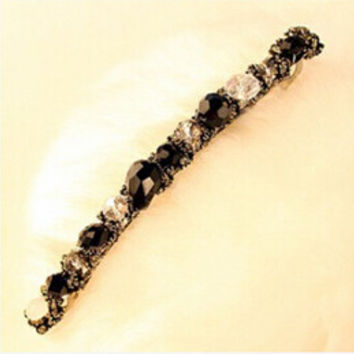 Headwear Hair Clips Women Girls Korean Crystal Rhinestone Barrette Hairpin Hair Accessory  SM6