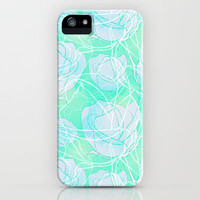 Blue roses iPhone & iPod Case by Claudia Owen