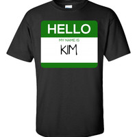 Hello My Name Is KIM v1-Unisex Tshirt
