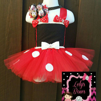 Minnie mouse inspired tutu dress, tutu dress, Minnie tutu dress, Minnie tutu, Minnie Mouse tutu, Minnie mouse outfit,  Minnie mouse party